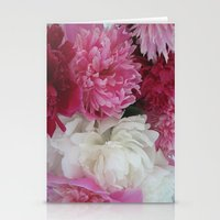 peonies Stationery Cards featuring Peonies by Electric Avenue