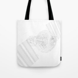 Explorer White and Grey Tote Bag