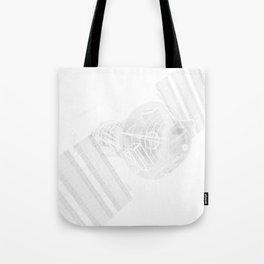 Explorer White and Grey Tote Bag