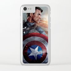 Capt. America Til the End Clear iPhone Case
