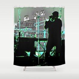 Big Sam (Trombone Man) Shower Curtain