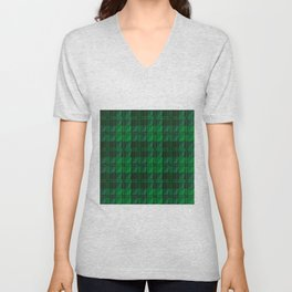 Dark Green Tartan Unisex V-Neck
