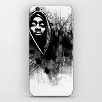 2pac iPhone & iPod Skins featuring 2Pac Illustration by Skillmatik by Mr Skillmatik