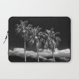 Palm Trees in Black and White on Cabrillo Beach Laptop Sleeve