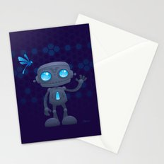 Waving Robot Stationery Cards