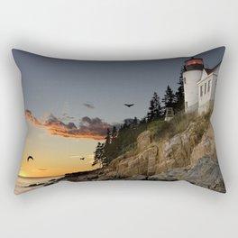 Bass Harbor Head Lighthouse Acadia National Park Rectangular Pillow