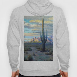 Superstition Mountains and Desert Landscape by John Marshall Gamble Hoody