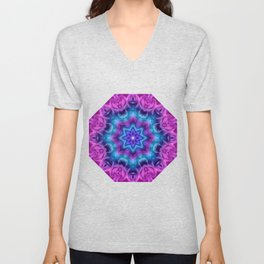 Floral Abstract G269 Unisex V-Neck