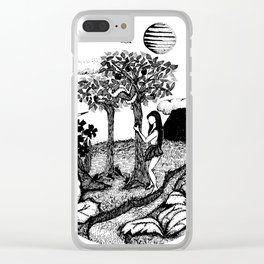 The Garden - Ink Drawing Clear iPhone Case