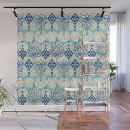 lotus diamond blue Wall Mural