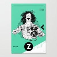 zappa Canvas Prints featuring Zappa by Franko Schiermeyer