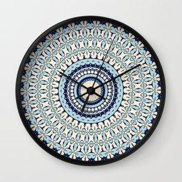 Hokusai Inspired Kaleidoscope Pattern Wall Clock