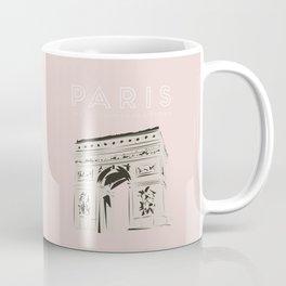 Paris Arc de Triomphe de l'Étoile Travel Poster Coffee Mug