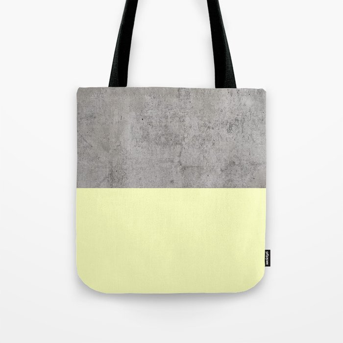 Yellow on Concrete Tote Bag