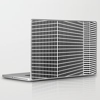 buildings Laptop & iPad Skins featuring TWO BUILDINGS by THE USUAL DESIGNERS
