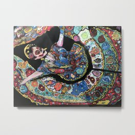 Day of the Dead Mexican Dancer Metal Print