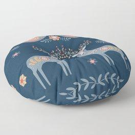 Nordic Winter Blue Floor Pillow