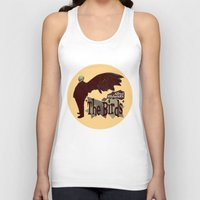 hitchcock Tank Tops featuring Alfred Hitchcock  |  The Birds by Silvio Ledbetter