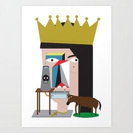 Presa Diretta Art Print