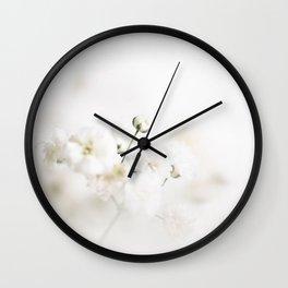Gypsophila Wall Clock