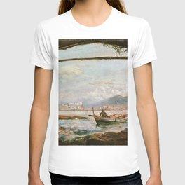 12,000pixel-500dpi - Johan Christian Dahl - View From A Grotto Near Posillipo - Digital Remastered T-shirt