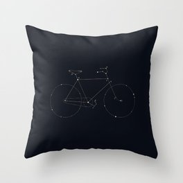 Bike Constellation Throw Pillow