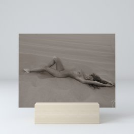 1212 Sandy Dune Nude - SurXposed - Nude Girl Lying on a Bed of Sand in Glamis California Mini Art Print
