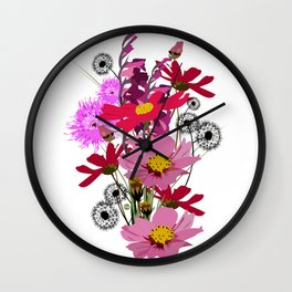 Bouquet de printemps Wall Clock