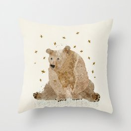 bear grizzly  Throw Pillow