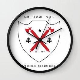 Cameroon Shield - Dark Wall Clock