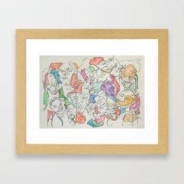 Blind Contour (Kirbear) Framed Art Print