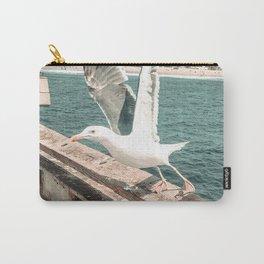 Seagull Taking Flight // California West Coast Pier Vibes Beach Ocean Surf City USA Carry-All Pouch