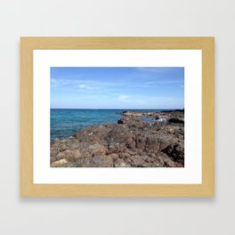 Oman Beach Framed Art Print