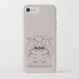 Stitch vitruvien iPhone Case