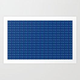 Blue plastic-pattern Art Print