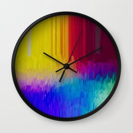 Crayola Colors melting in the box Wall Clock