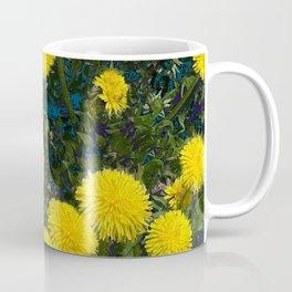 LOVE FIRST SPRING YELLOW DANDELIONS Coffee Mug