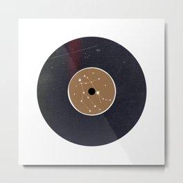 Vinyl Record Star Sign Art | Gemini Metal Print