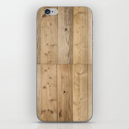Wood Planks Light iPhone Skin