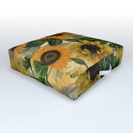 Vintage & Shabby Chic - Sunflowers Outdoor Floor Cushion