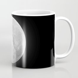 CHALK WHITE MOON Coffee Mug