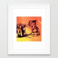 sneakers Framed Art Prints featuring Sneakers by ladyberula