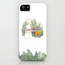 Bunny in the forest iPhone Case