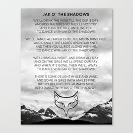 Jack O' The Shadows Wheel of Time Canvas Print