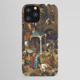 Pieter Brueghel Netherlandish Proverbs iPhone Case