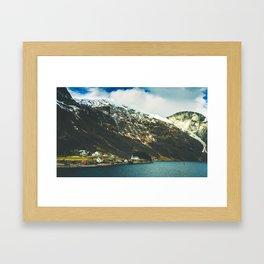 Viking Fjord landscapes of Norway Framed Art Print