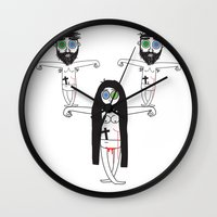 coven Wall Clocks featuring Power of Three by Kevin Naulls
