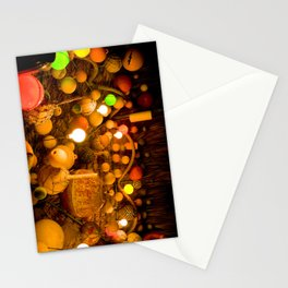 Travel Photography : Fishing Buoys Decoration (Lights, Nets, Tiki Hut) Stationery Cards