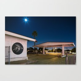 Skullphone Pegasus, Gas station, Los Angeles Canvas Print