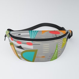Mid-Century Modern Abstract Atomic Art Fanny Pack